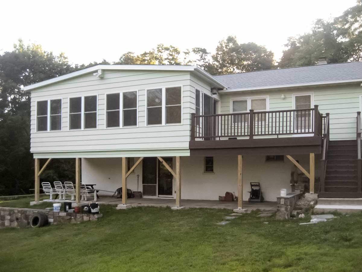 Cortlandt Manor, Westchester, NY, Home Addition and Deck by NY NJ Sunrooms and Additions