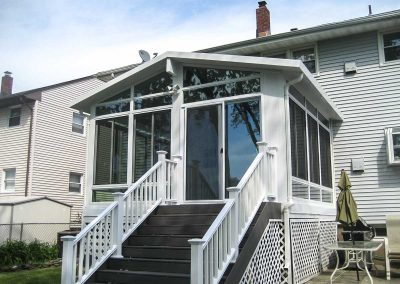 Four-Season Sunroom with Gable Roof - 76