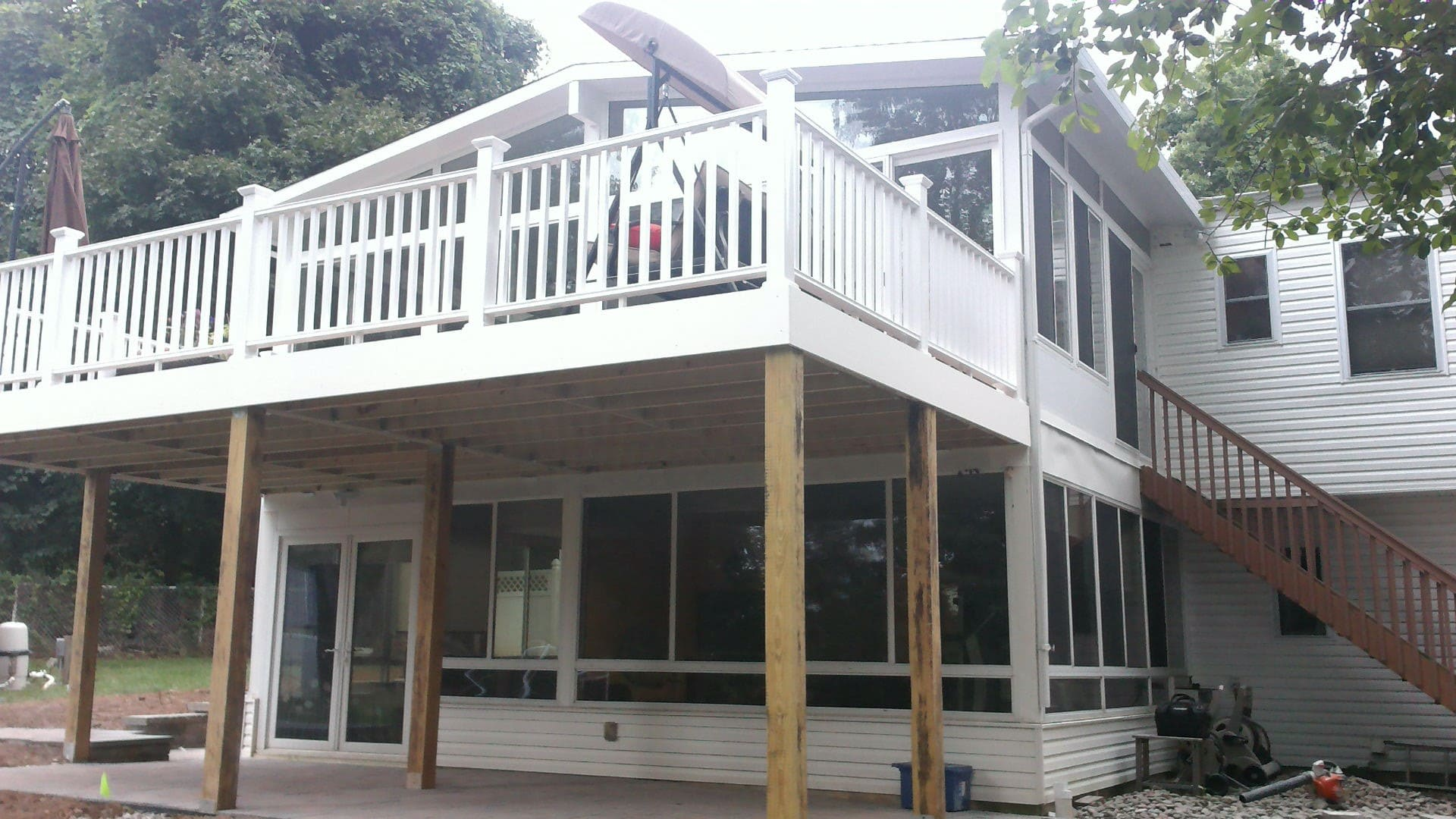Paramus, NJ, Home Addition and Deck by NY NJ Sunrooms and Additions